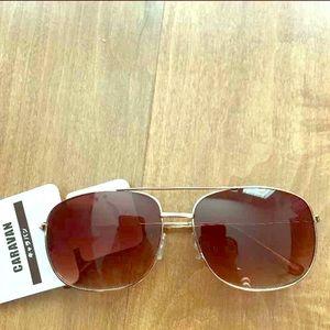 Accessories - Japanese Brand Square Aviator Style Sunglasses